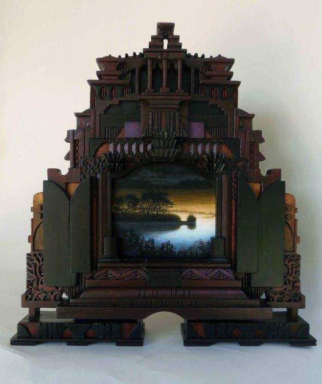 landscape wooden frame