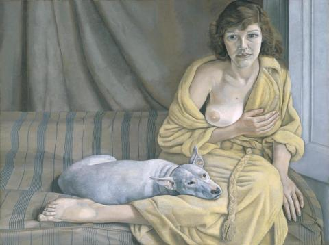 Girl with a White Dog 1950-1 Lucian Freud 1922-2011 Purchased 1952 http://www.tate.org.uk/art/work/N06039