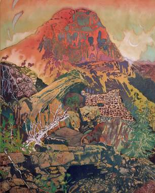 'The Mountain' 2014, acrylic and oil on canvas