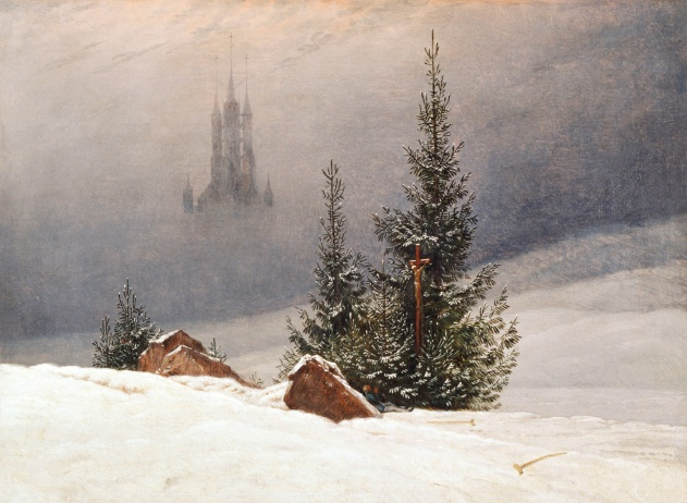 'Winter Landscape', 1811, Caspar David Friedrich. Oil on canvas. The National Gallery, London