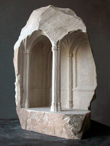 'Fragment of Retrochoir', 2011, Limestone